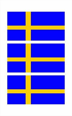3 - Sweden Swedish Flag Hard Hat Biker Helmet Sticker Decal HS1022