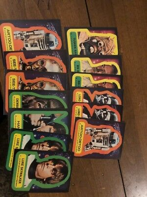 1977 TOPPS STAR WARS BLUE SERIES 1 LOT WITH STICKERS.  100+ Cards, 13 Stickers