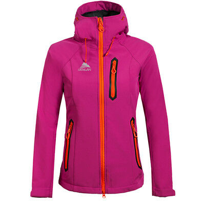 Womens Soft Shell Jacket Thermal Fleece Lined Coat Outdoor Camping Sport Clothes