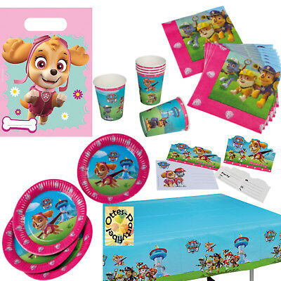 Paw Patrol Party Set 52tlg Teller Becher Servietten Tuten Einladung