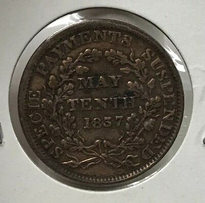 1837 Hard Times Payments Suspended Token