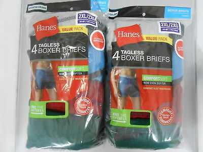 Hanes Tag less Boxer Briefs 8 Pack Mens Assorted Colors & Bands!!