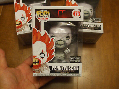 FUNKO POP IT PENNYWISE WITH TEETH 473 Teeth Black & White FYE 2018 SOLD OUT