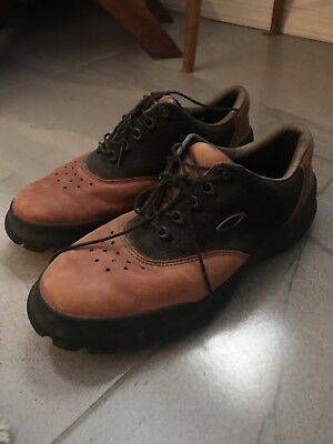 d4f229ececd REEBOK MENS BROWN Classic Leather Golf Shoes Size 9.5 -  29.92 ...