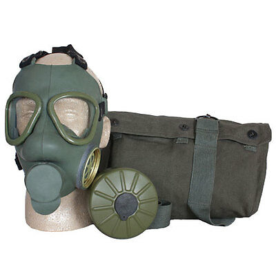 Serbian Army Military Issue Survival Gas Mask Carry Bag & Filter NBC Protection