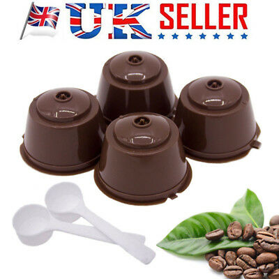 2pcs Dolce Gusto Refillable Reusable Coffee Capsule Pods Cup With 1 Coffee Spoon