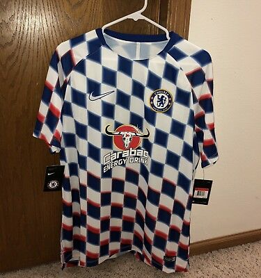 6b1ac3d51 Nike FC Chelsea Checkered Soccer Training Jersey 2018 Men s Large 919937 101