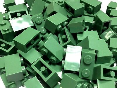 Lego Sand Green 1x2 Flat Tile x25 in a set *BRAND NEW* City Star Wars 3069