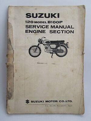 Suzuki 120 Model B100P Engine Section Service Manual Motorcycle - Free Shipping