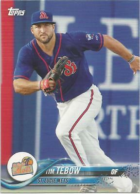2018 Topps Pro Debut #200.1 Tim Tebow Lucie Mets Rookie Baseball Card Base St