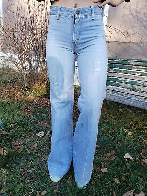 Brittania Vintage High Waisted Bell Bottom Jeans
