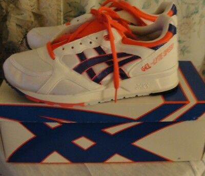 Asics Gel Lyte Speed Tn57 Men's Size 8 New In Box (Lot#107) Old School Wh/red