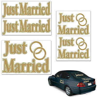 Just Married Auto Clings send off new bride and groom, Honeymoon,Wedding