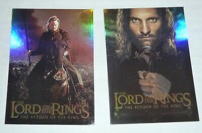 Lot Of 7 2003 Topps Lord Of The Rings Return King 2 Card Box Loader Set 14 Cards