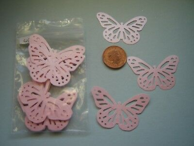 20 X CONFETTI CONES PINK PEARLY  BUTTERFLIES