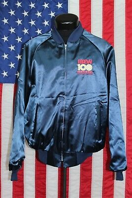 NOS VTG King Louie Satin Made USA IBEW XL Jacket Coat Electrical Electrician HTF