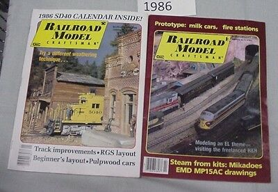 Railroad Model Craftsman Magazine Complete Year 1986 12 issues