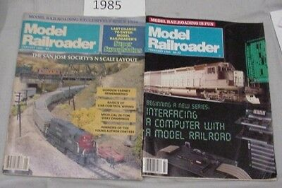 Model Railroader Magazine Complete Year 1985 12 issues