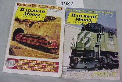 Railroad Model Craftsman Magazine Complete Year 1987 12 issues