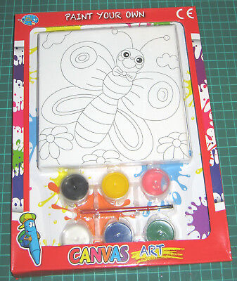 Paint Your Own Canvas Art (Butterfly ) Childrens Painting Art Set