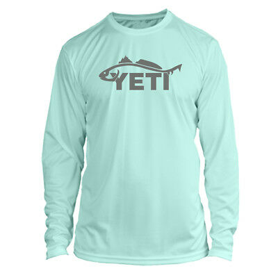 Yeti Redfish Long Sleeve Microfiber UPF Fishing Shirt - Seafoam Green