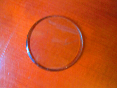 """NOS Round, Flat Beveled Replacement Clock Glass 2-5/16""""  (300A102)"""