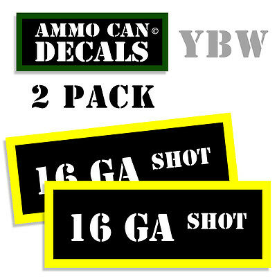"""6.5 GRENDEL Ammo Can Decals Ammunition Ammo Can Labels  Vinyl 3/""""x1.15/"""" 4 pack YW"""