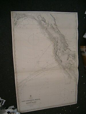 Vintage Admiralty Chart 787 USA - CAPE CORRIENTES to KADIAK ISLAND 1877 edition