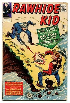 Rawhide Kid #50 Marvel Comics 1966 VG+ 5.0 Kid Colt Crossover