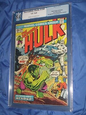 THE INCREDIBLE HULK  #180 PGX 8.0 (1st Appearance of WOLVERINE/CGC/181)