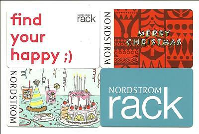 Lot of (4) Nordstrom Incl. Holiday Gift Cards No $ Value Collectible Christmas