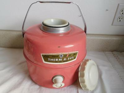 vintage PINK Knapp KM MONARCH THERM A JUG one Gallon thermos with insert CUP