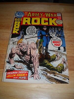 Our Army At War # 246 1972 Dc War Comic  Sgt. Rock Fine Minus Condition 5.5