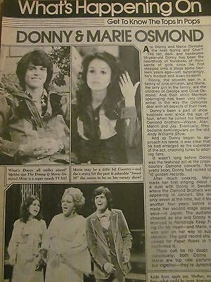 Donny and Marie Osmond, Osmonds Brothers, Full Page Vintage Clipping