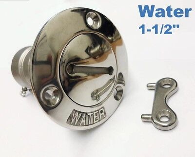 "Water Boat Deck Fill Marine Grade 316 Stainless Steel with Key 38mm (1.5"")"