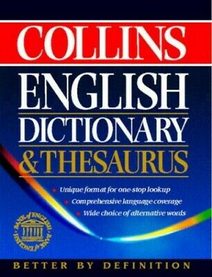 Collins English Dictionary And Thesaurus by Not Known Hardback Book The Cheap