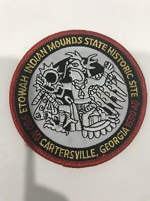 Etowah Indian Mounds Historic Site Cartersville Georgia GA Embroidered Patch