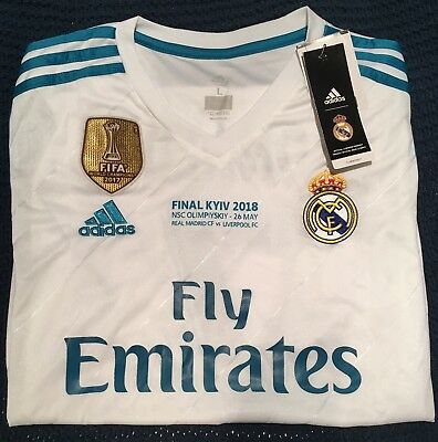 best sneakers 8008d 3faf6 ADIDAS REAL MADRID Cristiano Ronaldo Jersey 2018 Champions League Final -  Size L