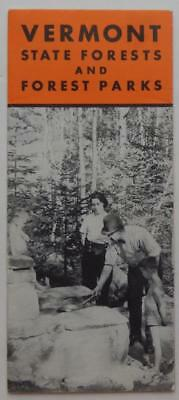 Vintage Brochure Vermont State Forests Parks Map Recreation Guide Vacation 1938