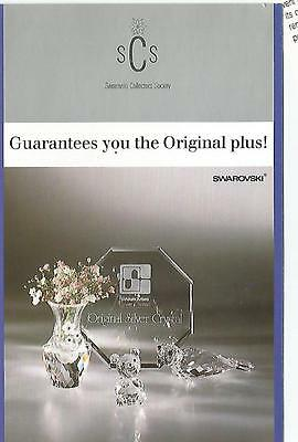 1987  Swarovski SILVER CRYSTAL  COLLECTORS SOCIETY Membership announcement