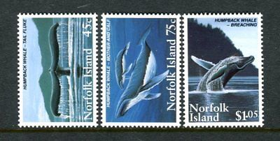 1995 Norfolk Island Humpback Whales - MUH Set of 3 Stamps