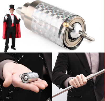 1.1m Portable Stainless Steel Magic Wand Telescopic Stick Metal Props Supplies