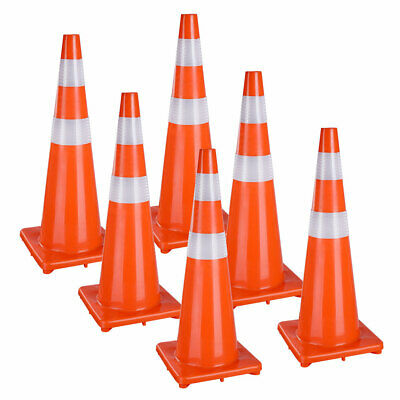 "17"" 28"" 36"" PVC Road Traffic Cones Emergency Parking School Sports Overlap Cone"