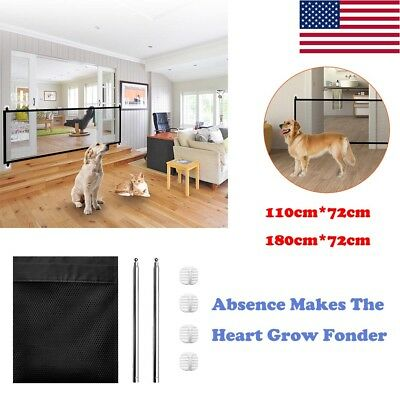 Magic-Gate Portable Folding Safety Guard Mesh Fence Net for Puppy Pet Dog Cat US
