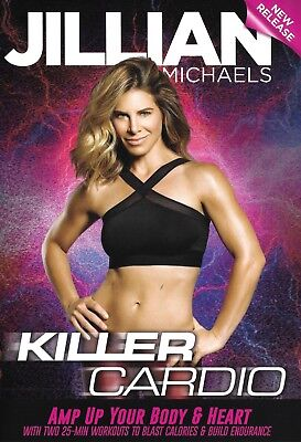 Cardio & Toning EXERCISE DVD - Jillian Michaels KILLER CARDIO - 2 Workouts!