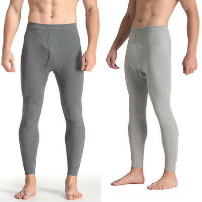 Mens 100% Cotton Thermal Underwear Warm Long Johns Leggings Bottoms Pants XN
