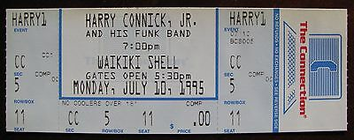 Harry Connick Jr. Unused Concert Ticket at Waikiki Shell on July 10, 1995