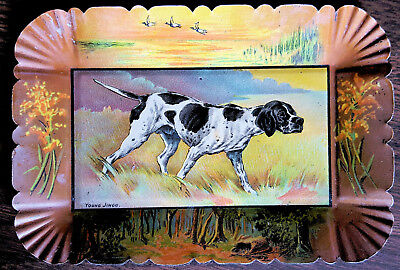 Tip Tray-Black And White Pointer - Dog - Young Jingo