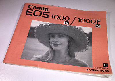 English instruction manual for the Canon EOS 1000n / Fn SLR camera for 35mm film