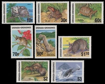 Grenada-Grenadinen 1986 - Mi-Nr. 787-794 ** - MNH - Wildtiere / Wild animals